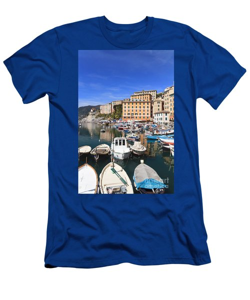 harbor in Camogli - Italy Men's T-Shirt (Athletic Fit)
