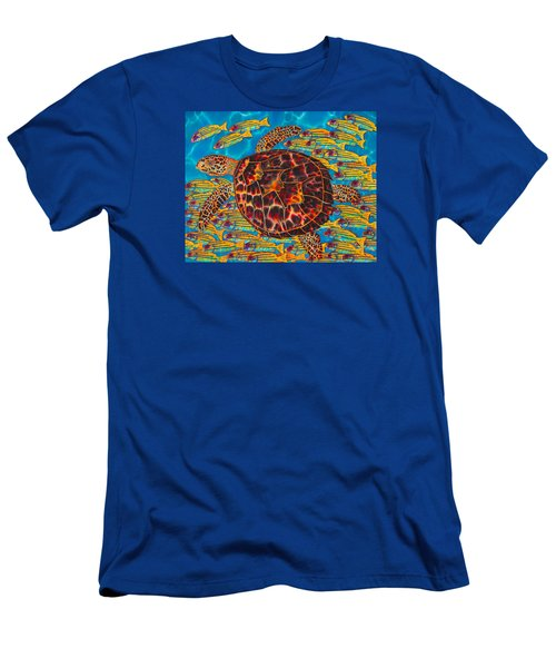 Hawksbill Sea  Turtle And  Snappers Men's T-Shirt (Athletic Fit)