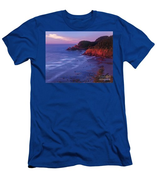 Heceta Head Lighthouse At Sunset Oregon Coast Men's T-Shirt (Athletic Fit)