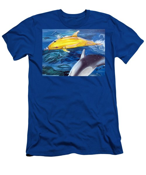 High Tech Dolphins Men's T-Shirt (Athletic Fit)
