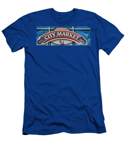 Historic City Market Sign  Men's T-Shirt (Athletic Fit)