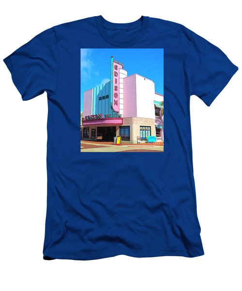 Deco Historic Edison Theater. Ft. Myers. Florida. Men's T-Shirt (Athletic Fit)