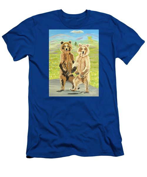 Hoedown On The Tundra Men's T-Shirt (Slim Fit) by Phyllis Kaltenbach