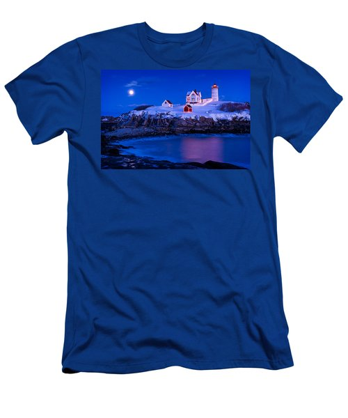 Holiday Moon Men's T-Shirt (Athletic Fit)