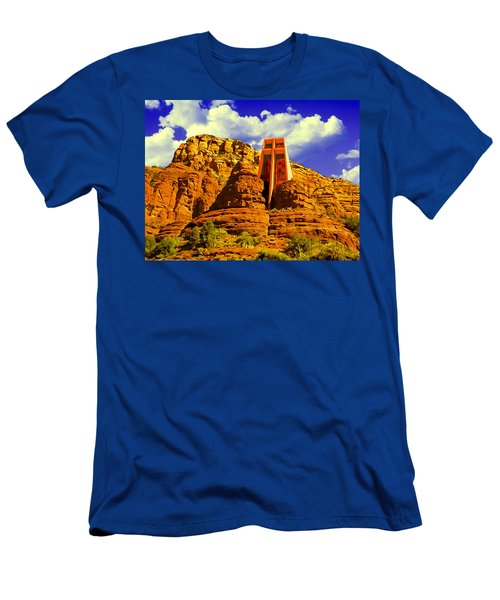 Holy Cross Chapel Coconino National Forest Men's T-Shirt (Athletic Fit)