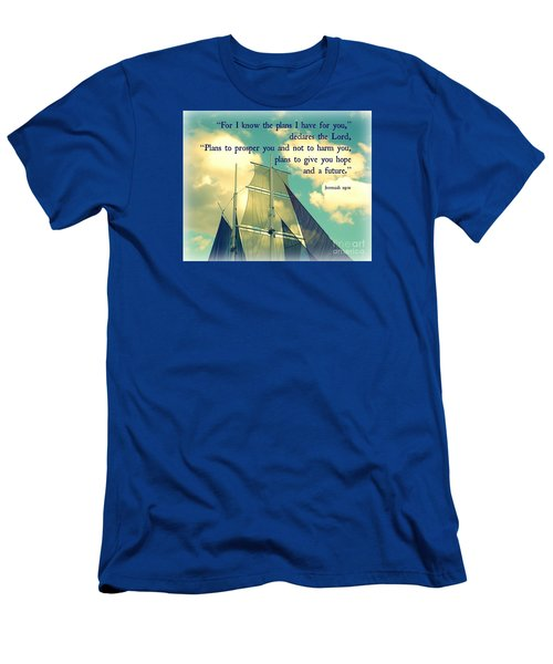 Hope And A Future Men's T-Shirt (Slim Fit) by Valerie Reeves