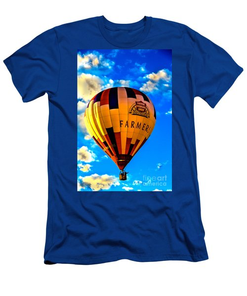 Hot Air Ballon Farmer's Insurance Men's T-Shirt (Athletic Fit)