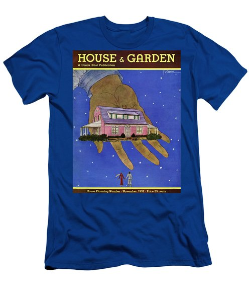 House & Garden Cover Illustration Of A Giant Hand Men's T-Shirt (Athletic Fit)