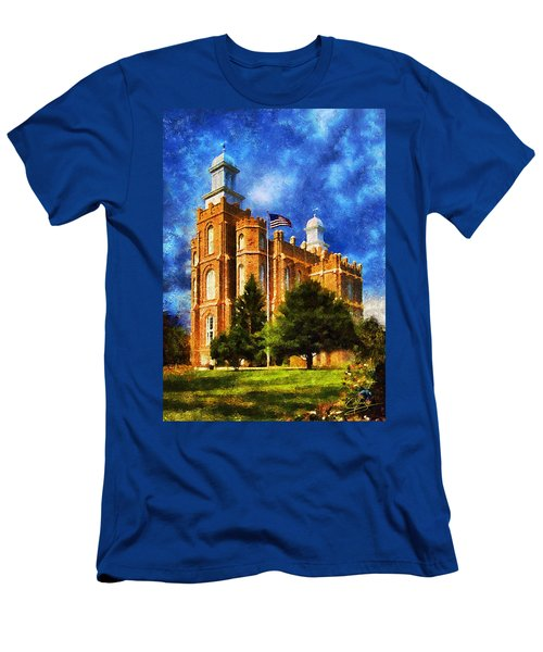 Men's T-Shirt (Slim Fit) featuring the digital art House Of Learning by Greg Collins