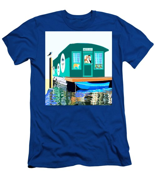 Houseboat Men's T-Shirt (Slim Fit) by Marian Cates