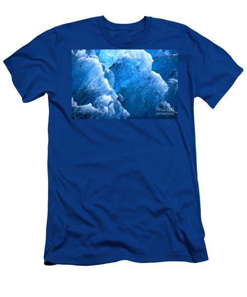 Men's T-Shirt (Slim Fit) featuring the photograph Iceberg Blues by Cynthia Lagoudakis