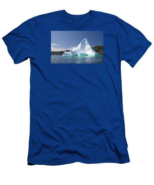 Men's T-Shirt (Slim Fit) featuring the photograph Iceberg Newfoundland Canada by Liz Leyden