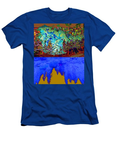 Illusion Of Lake And Forest Men's T-Shirt (Athletic Fit)