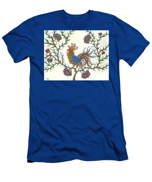 Men's T-Shirt (Slim Fit) featuring the painting In The Garden - Barnyard Style by Susie WEBER