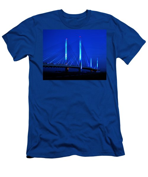 Indian River Bridge At Night Men's T-Shirt (Athletic Fit)
