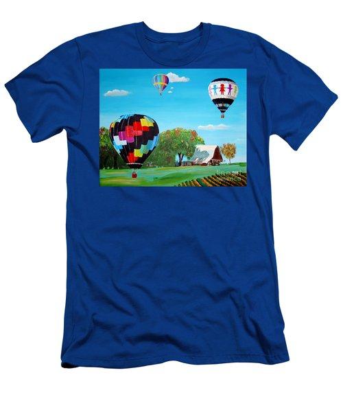 Iowa Balloons Men's T-Shirt (Slim Fit) by Phyllis Kaltenbach