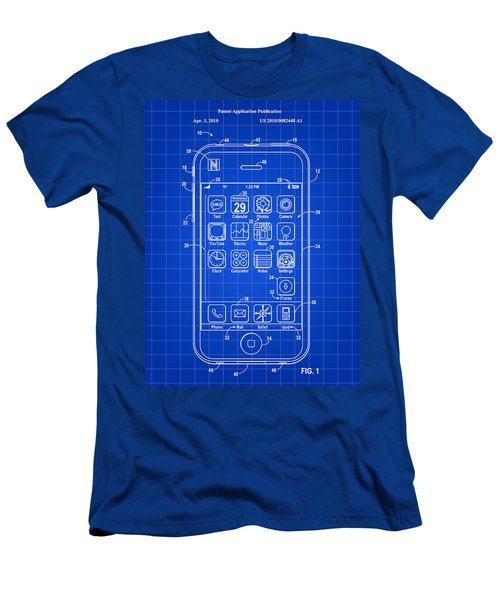 iPhone Patent - Blue Men's T-Shirt (Slim Fit) by Stephen Younts