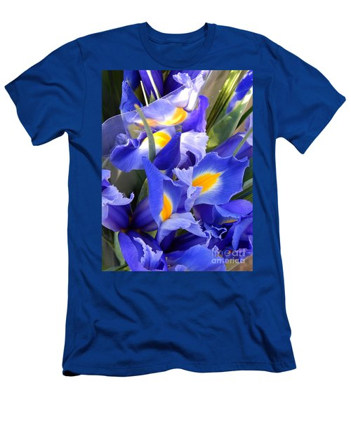 Iris Blues In New Orleans Louisiana Men's T-Shirt (Athletic Fit)