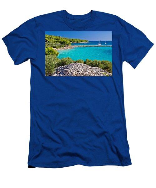 Island Murter Turquoise Lagoon Beach Men's T-Shirt (Athletic Fit)