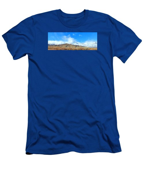 Men's T-Shirt (Slim Fit) featuring the photograph It Snowed Last Night by Marilyn Diaz