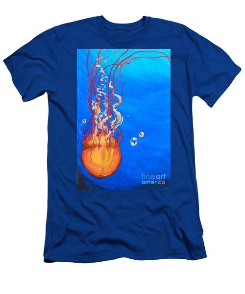Jellyfish Men's T-Shirt (Slim Fit) by Marisela Mungia