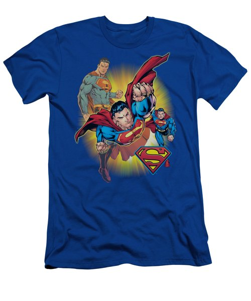Jla - Superman Collage Men's T-Shirt (Athletic Fit)
