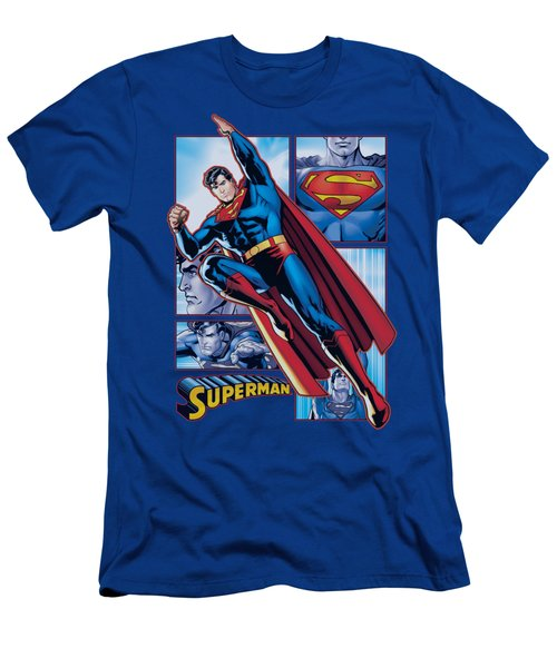 Jla - Superman Panels Men's T-Shirt (Athletic Fit)