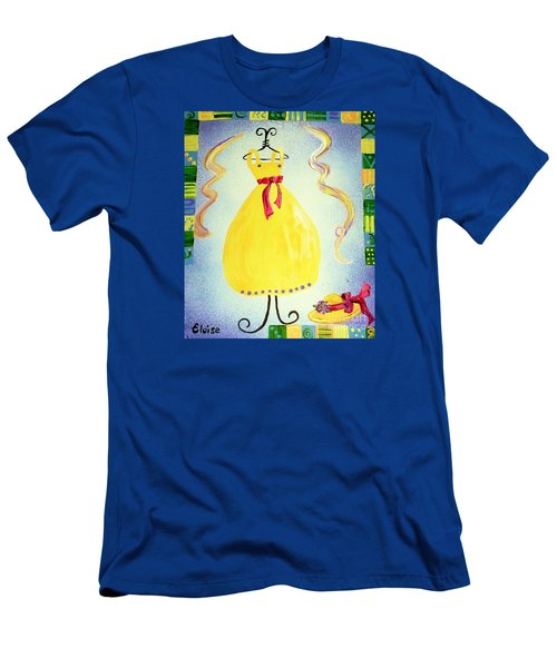 Men's T-Shirt (Slim Fit) featuring the painting Just A Simple Hat And Dress by Eloise Schneider