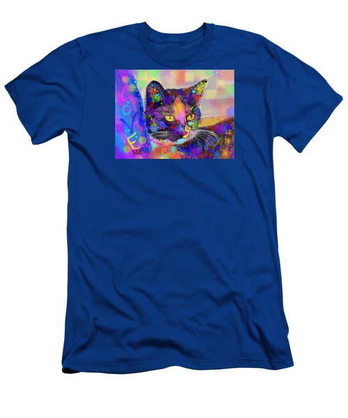 Men's T-Shirt (Slim Fit) featuring the digital art Just Love Me by Mary Armstrong