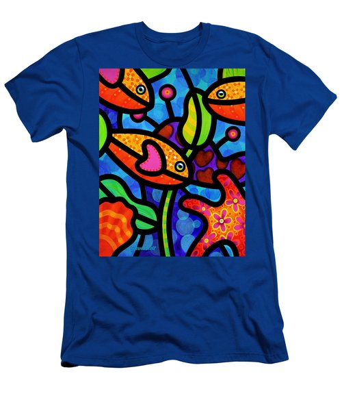 Kaleidoscope Reef Men's T-Shirt (Athletic Fit)