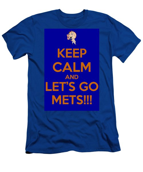 Keep Calm And Lets Go Mets Men's T-Shirt (Slim Fit) by James Kirkikis