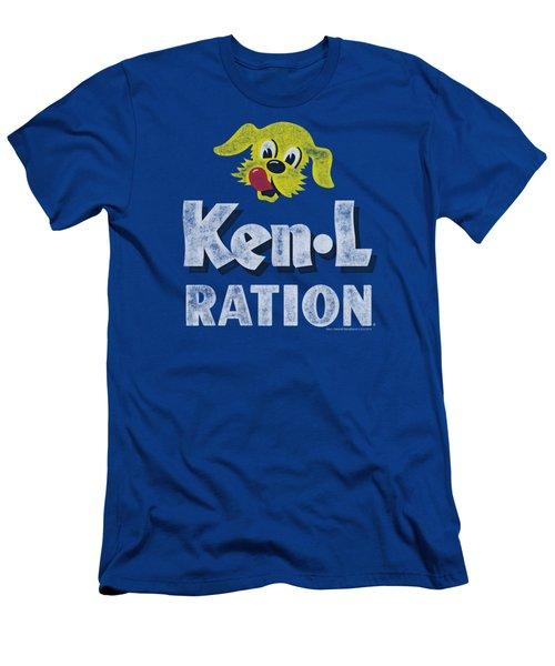 Ken L Ration - Distressed Logo Men's T-Shirt (Athletic Fit)