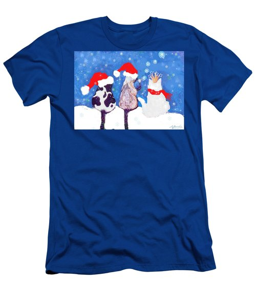 Kitty Christmas Men's T-Shirt (Athletic Fit)