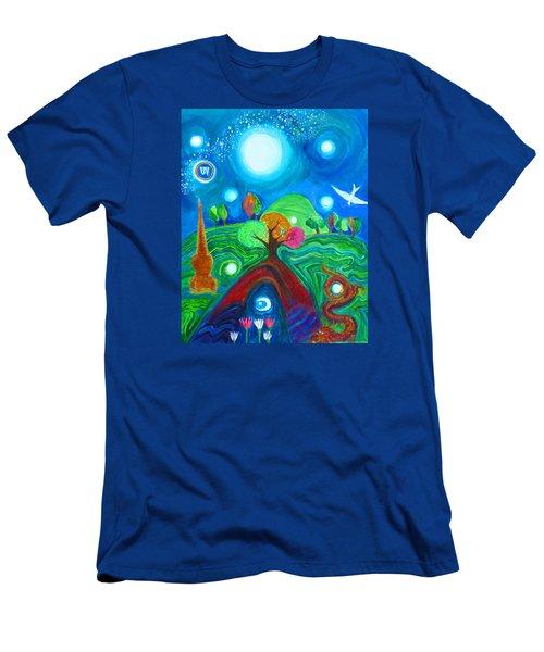 Landscape Of Ancient Dreams Men's T-Shirt (Athletic Fit)