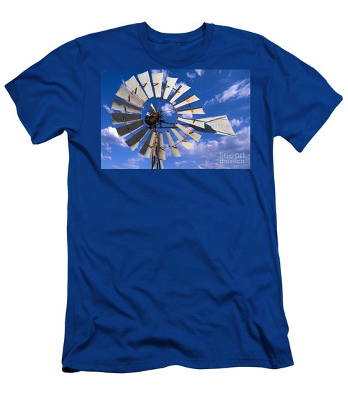 Large Windmill Men's T-Shirt (Athletic Fit)