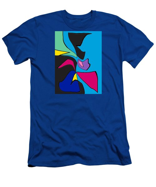 Original Abstract Art Painting Life Is Good By Rjfxx.  Men's T-Shirt (Slim Fit) by RjFxx at beautifullart com
