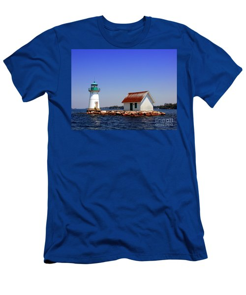 Lighthouse On The St Lawrence River Men's T-Shirt (Athletic Fit)