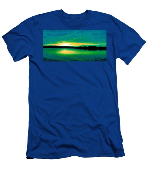 Lime Sunset Men's T-Shirt (Athletic Fit)