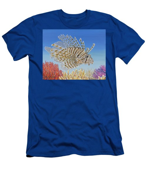 Lionfish And Coral Men's T-Shirt (Athletic Fit)