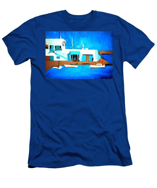 Paros  Cute Spot On Greek Island Men's T-Shirt (Athletic Fit)