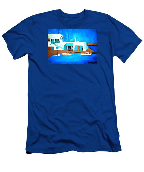 Paros  Cute Spot On Greek Island Men's T-Shirt (Athletic Fit)