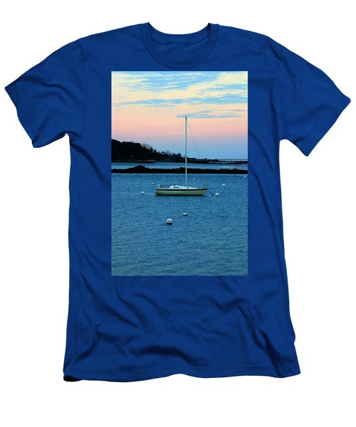 Lone Sailboat At York Maine Men's T-Shirt (Athletic Fit)