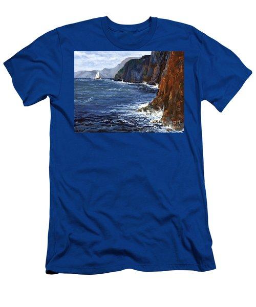 Lonely Schooner Men's T-Shirt (Athletic Fit)