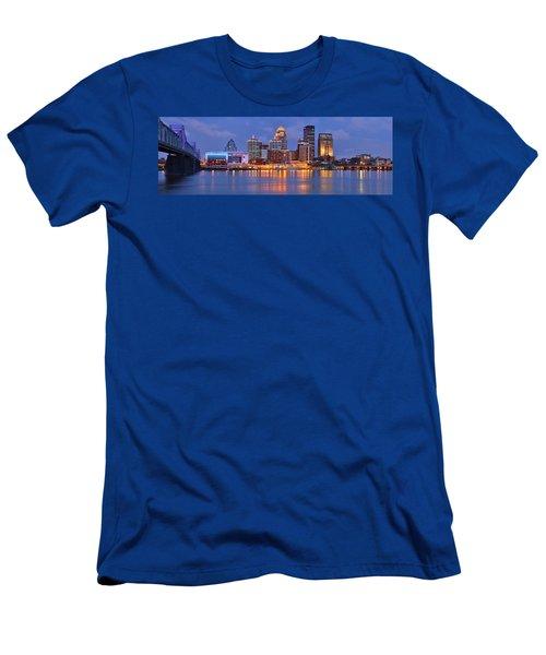Louisville Skyline At Dusk Sunset Panorama Kentucky Men's T-Shirt (Athletic Fit)