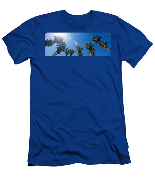 Low Angle View Of Palm Trees, Downtown Men's T-Shirt (Athletic Fit)