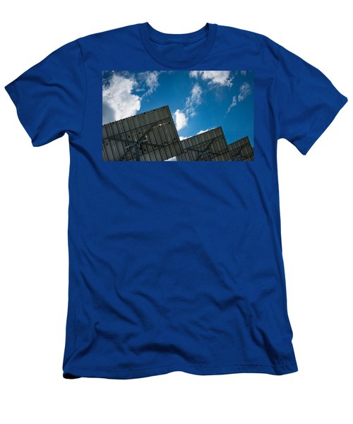 Low Angle View Of Solar Panels Men's T-Shirt (Athletic Fit)