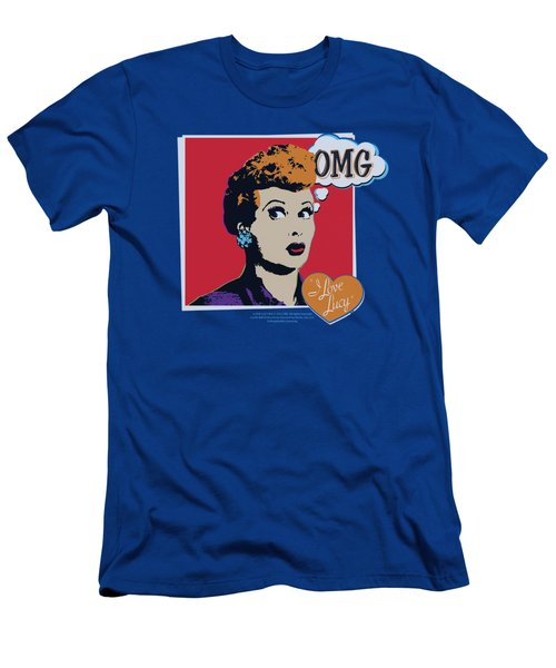 Lucy - I Love Worhol Omg Men's T-Shirt (Athletic Fit)