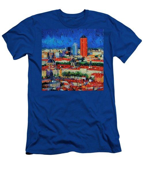 Lyon View From Jardins Des Curiosites  Men's T-Shirt (Athletic Fit)