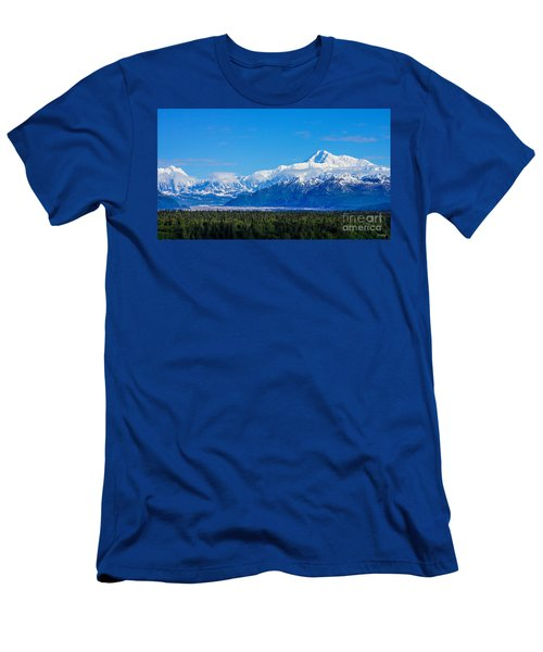 Majestic Mt Mckinley Men's T-Shirt (Slim Fit) by Jennifer White