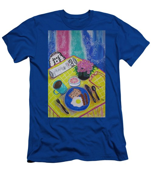 Men's T-Shirt (Slim Fit) featuring the painting Makin' His Move by Diane Pape